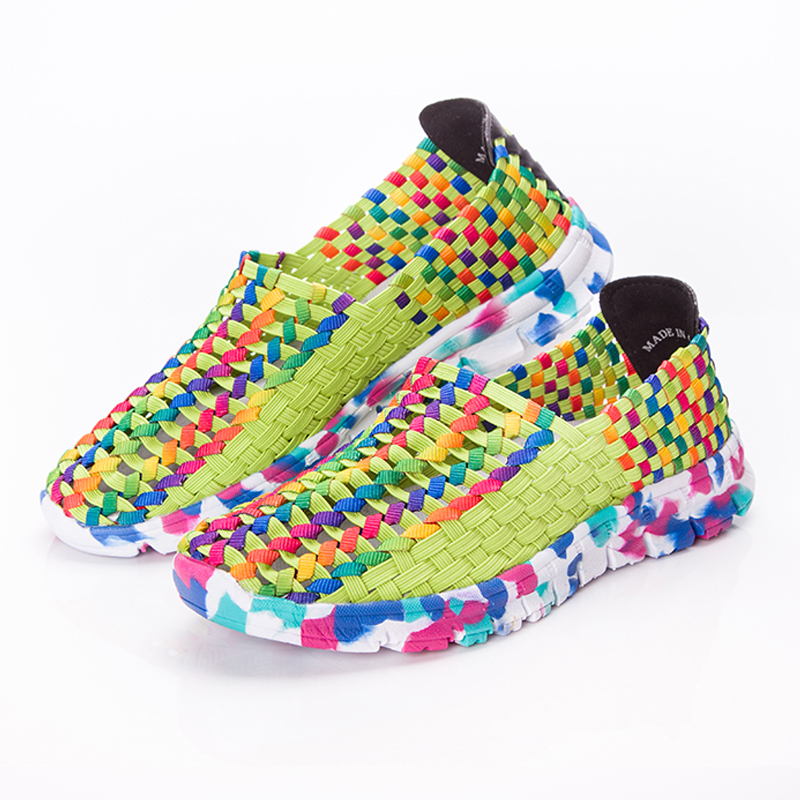 Women Shoes Summer Flat Female Loafers Women Casual Flats Woven Shoes Sneakers Slip On Colorful Shoe Mujer Plus Size ace 4