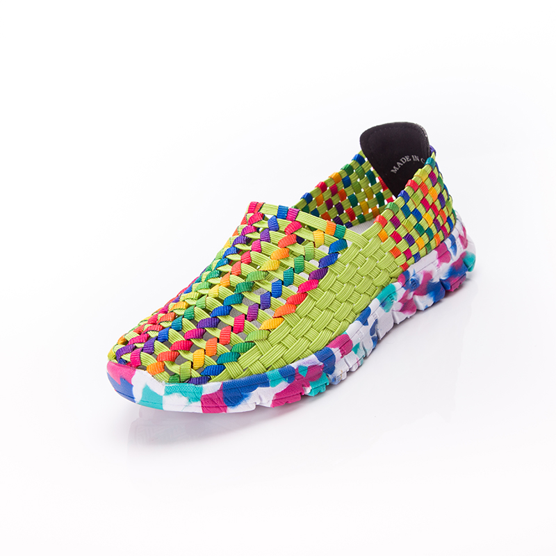 Women Shoes Summer Flat Female Loafers Women Casual Flats Woven Shoes Sneakers Slip On Colorful Shoe Mujer Plus Size ace 1