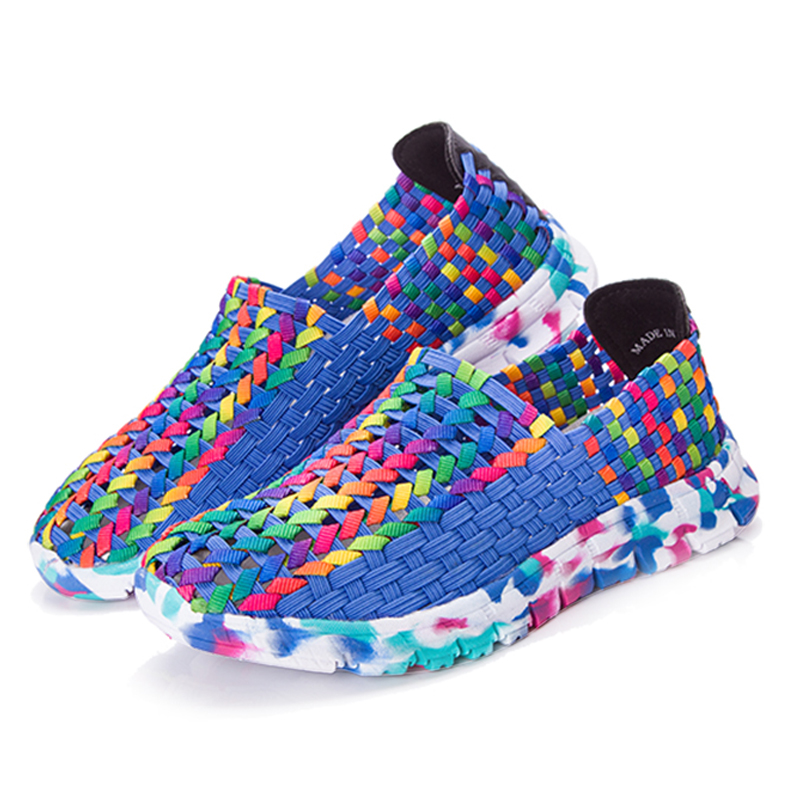 Women Shoes Summer Flat Female Loafers Women Casual Flats Woven Shoes Sneakers Slip On Colorful Shoe Mujer Plus Size ace 2