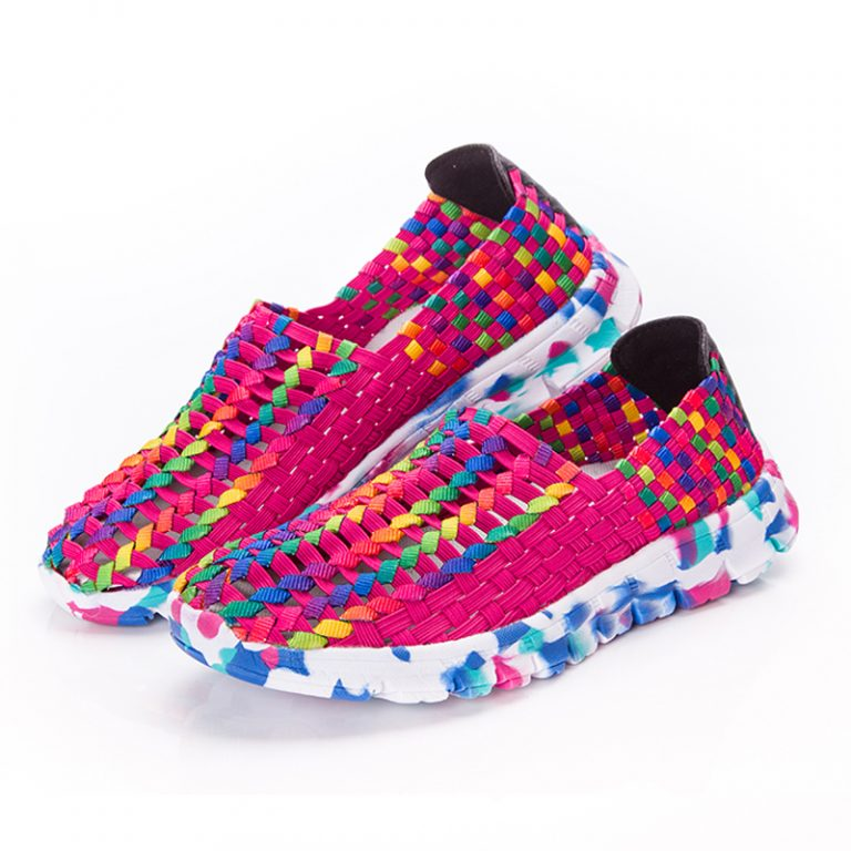 Women Shoes Summer Flat Female Loafers Women Casual Flats Woven Shoes Sneakers Slip On Colorful Shoe Mujer Plus Size ace 3